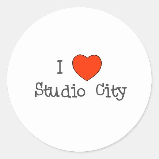I Heart Studio City Classic Round Sticker
