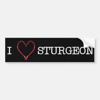 I [Heart] Sturgeon Bumper Sticker DARK Car Bumper Sticker