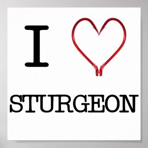 I [Heart] Sturgeon Poster