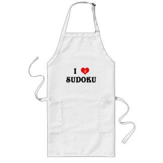I Heart Sudoku White Apron