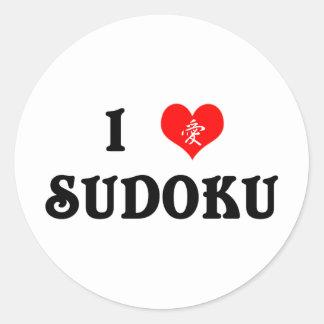 I Heart Sudoku White Sticker