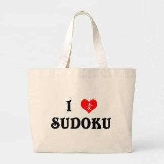 I Heart Sudoku White Tote Bag