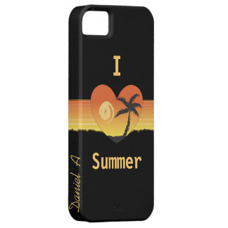 I heart summer customize me phone case cover iPhone 5 case