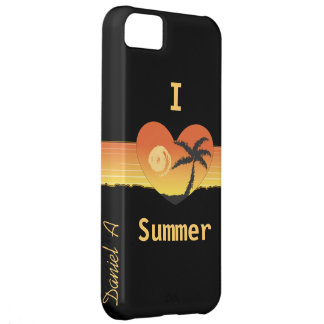 I heart summer customize me phone case cover iPhone 5C cover