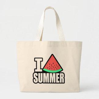 I Heart Summer Large Tote Bag