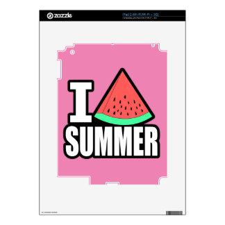 I Heart Summer Skins For iPad 2
