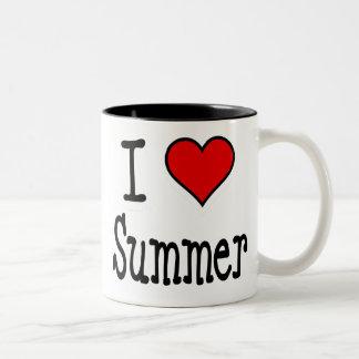 I Heart Summer Two-Tone Coffee Mug