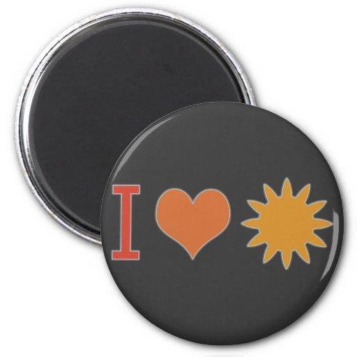 I Heart Sun 2 Inch Round Magnet