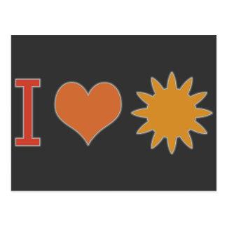 I Heart Sun Postcard