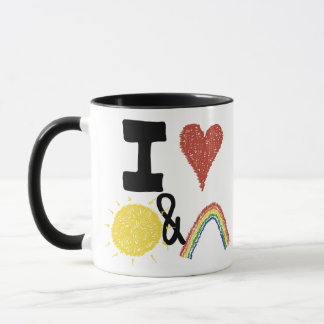I Heart Sunshines And Rainbows Mug