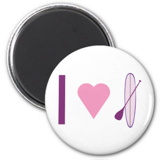 I Heart SUP 2 Inch Round Magnet