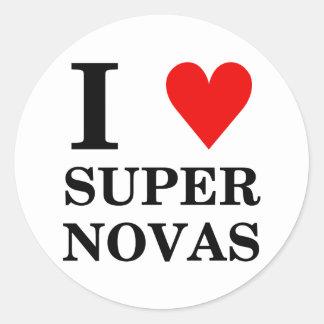 I (heart) SuperNovas Sticker