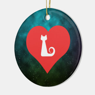I Heart Superstitions Vector Double-Sided Ceramic Round Christmas Ornament