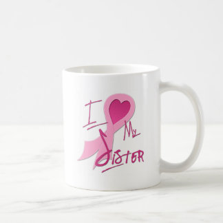 I Heart/Support My Sister Classic White Coffee Mug