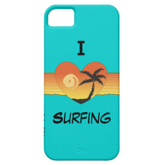 I heart surfing mint green phone case cover iPhone 5 covers
