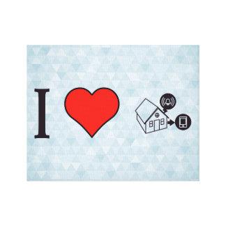 I Heart Surveillance System With Alarm Canvas Print