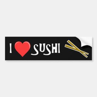 I -heart- sushi bumper sticker