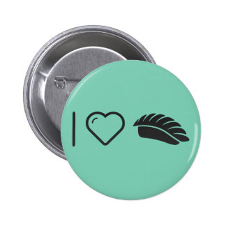 I Heart Sushis 2 Inch Round Button