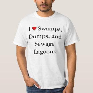 I heart Swamps, Dumps, and Sewage Lagoons t-shirt