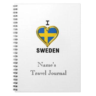 I HEART SWEDEN NOTEBOOK