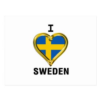 I HEART SWEDEN POSTCARD