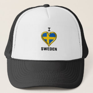 I HEART SWEDEN TRUCKER HAT