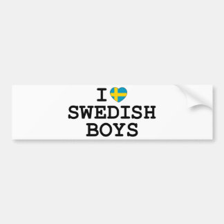 I Heart Swedish Boys Bumper Sticker