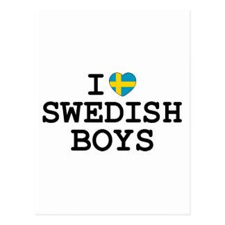 I Heart Swedish Boys Postcard