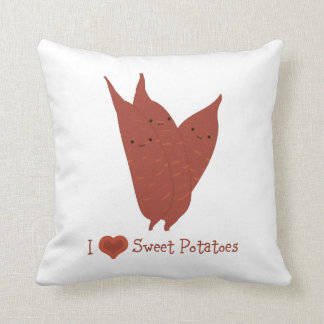 I heart sweet potatoes pillow