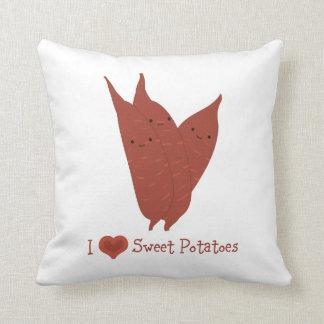 I heart sweet potatoes throw pillow