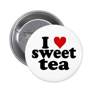 I Heart Sweet Tea Button