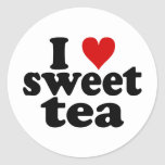 I Heart Sweet Tea Classic Round Sticker