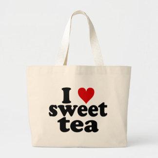 I Heart Sweet Tea Large Tote Bag