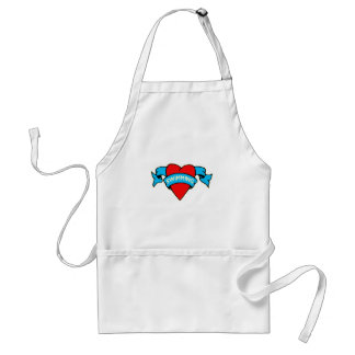 I heart swimming tattoo adult apron