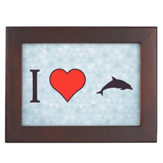 I Heart Swimming With Dolphins Keepsake Box