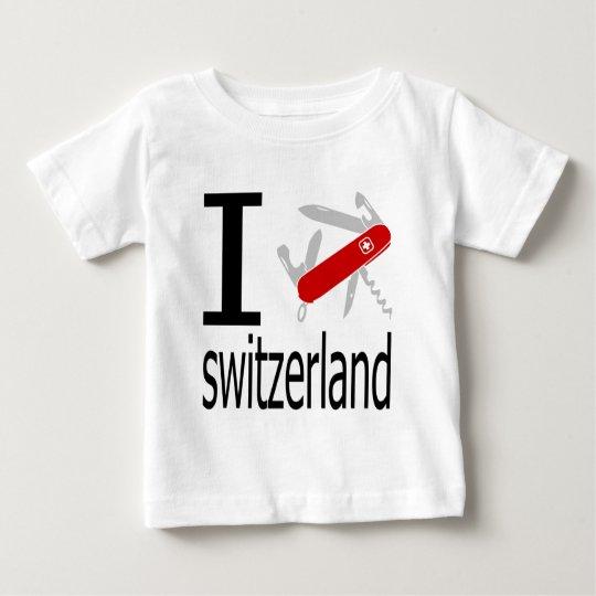 I Heart Switzerland Baby T-Shirt