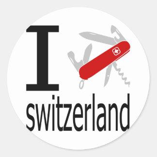 I Heart Switzerland Classic Round Sticker