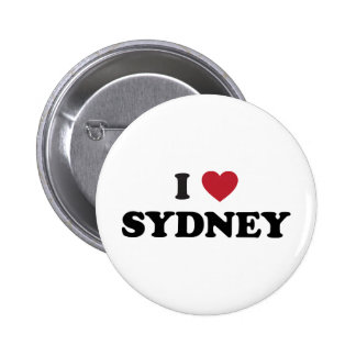 I Heart Sydney Australia Pinback Button