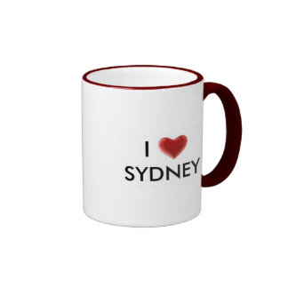 I heart Sydney cup Ringer Coffee Mug