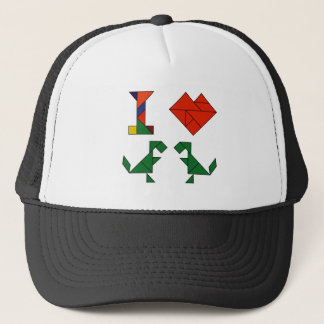I Heart T-Rex (Tangramosaurus Rex) Trucker Hat