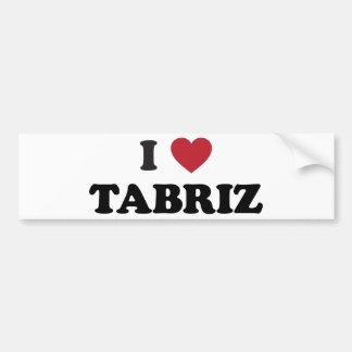 I Heart Tabriz Iran Car Bumper Sticker