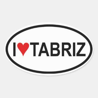 I [heart] Tabriz Oval Sticker