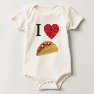 i heart tacos baby bodysuit