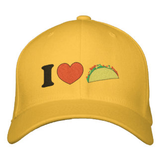 I Heart Tacos! Embroidered Baseball Caps