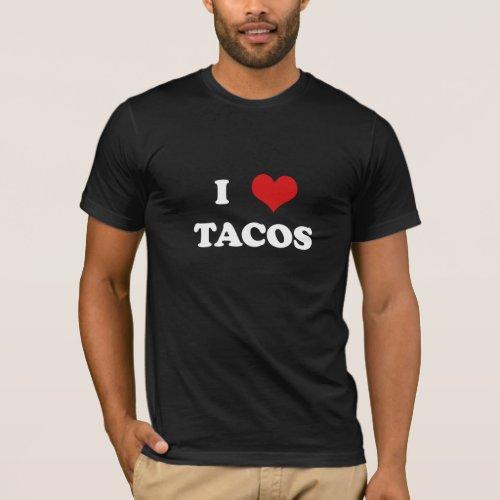 I Heart Tacos for dark shirts T_Shirt