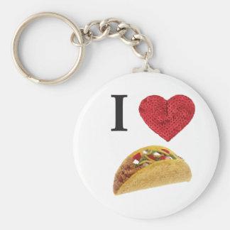 i heart tacos keychain