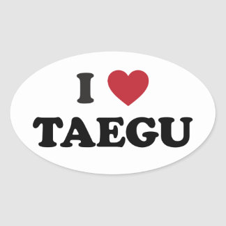 I Heart Taegu South Korea Oval Stickers