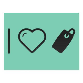 I Heart Tags Postcard
