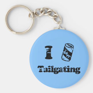 I Heart Tailgating with Beer Can - Any Team Colors Keychain