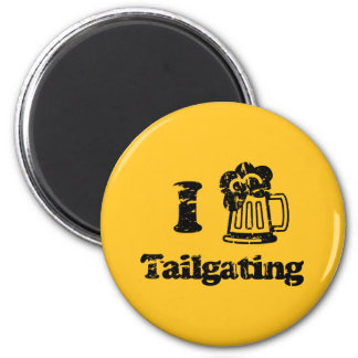 I Heart Tailgating with Beer Mug - Any Team Colors Magnet